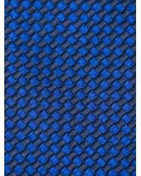 BOSS - Blue Fine Woven Tie for Men - Lyst
