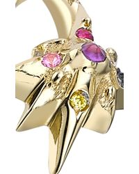 Venyx | Metallic 18k Yellow Gold Star Moonshell Ring | Lyst