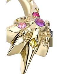 Venyx | Metallic 18k Yellow Gold Star Moonshell Ring | Lyst