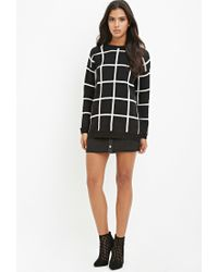Forever 21 | Black Grid-patterned Sweater | Lyst