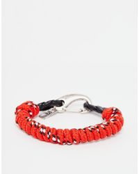 Icon Brand - Red Half Mast Hook Bracelet for Men - Lyst