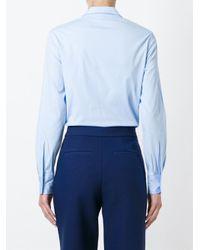 Vivetta - Blue Cut-out Hand Collar Shirt - Lyst