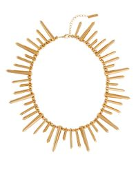 Rachel Zoe | Metallic 12K Gold Plated Spike Necklace | Lyst
