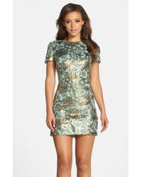 Dress the Population | Green 'beverly' Sequin Chiffon Minidress | Lyst