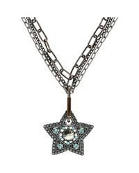 Lanvin | Metallic Elsie Pendant Necklace | Lyst