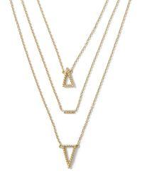 Banana Republic | Metallic Triangle Layered Necklace | Lyst
