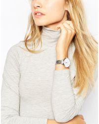 ASOS - Metallic Mixed Metal Dial Bracelet Watch - Lyst