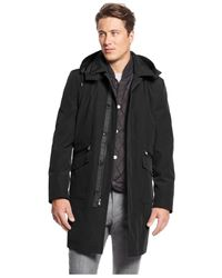 Michael Kors | Black Michael Conway Classic-fit Vested Rain Coat for Men | Lyst