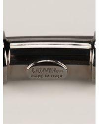 Lanvin | Black Metallic Bracelet | Lyst