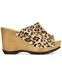 Callisto - Brown Redmond Platform Wedge Sandals - Lyst