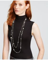 Ann Taylor | Black Double Strand Delicate Necklace | Lyst