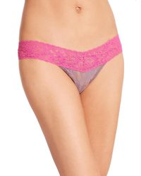 Hanky Panky | Gray Colorplay Low-rise Lace Thong | Lyst