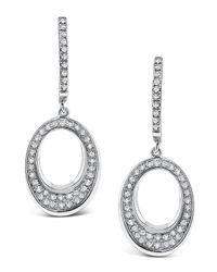 KC Designs | Metallic Tapered Oval Diamond Drop Earrings | Lyst