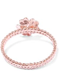 Alex Monroe | Pink Rose Gold-plated Braided Wild Flower Cameo Ring | Lyst