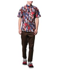 Marni | Blue Floral Printed Cotton Shirt for Men | Lyst