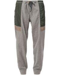 Kolor - Gray Panelled Track Pants for Men - Lyst