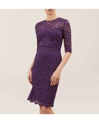 Hobbs - Purple Albany Dress - Lyst