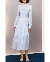 Vilshenko - White Pru French Embroidered Dress - Lyst