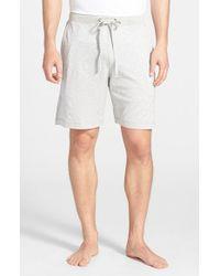 Daniel Buchler - Gray Silk & Cotton Lounge Shorts for Men - Lyst