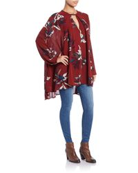 Free People | Red Printed Swing Top | Lyst