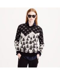J.Crew | Black Cabin Sweater | Lyst