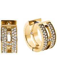 Michael Kors | Metallic Heritage Huggie Hoop Earrings | Lyst