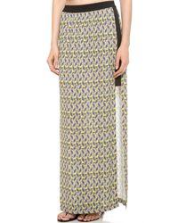 Cut25 by Yigal Azrouël | Green Printed Long Skirt | Lyst