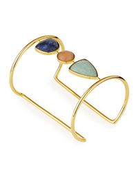 Lizzie Fortunato | Metallic Illumination Open Cuff Bracelet | Lyst