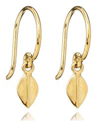 Dinny Hall | Metallic Tiny Gold Vermeil Lotus Petal Earrings | Lyst