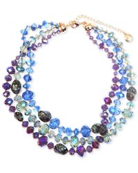 Jones New York | Gold-Tone Multicolored Drama Collar Necklace | Lyst