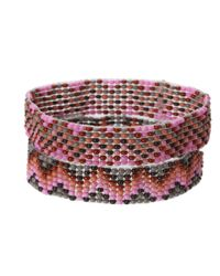 Chan Luu - Pink 2 Pack Beaded Stretch Bracelet - Lyst
