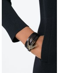 McQ | Black Swallow Triple Wrap Bracelet | Lyst