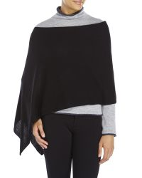 In Cashmere | Black Solid Poncho | Lyst