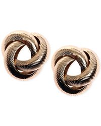 Jones New York - Metallic Knot Stud Earrings - Lyst