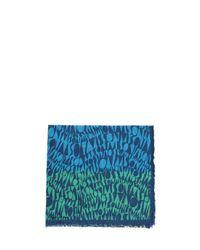 Missoni - Green Logomania Cotton Scarf - Lyst