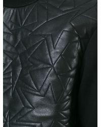 Neil Barrett - Black Quilted Start Panel Sweatshirt - Lyst