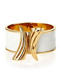 Rachel Zoe - White Gold-Plated Safari Horn Bracelet - Lyst