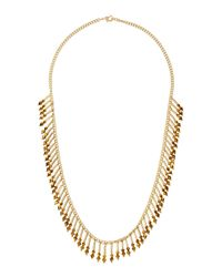 Fragments | Metallic Crystal Stick-fringe Necklace | Lyst