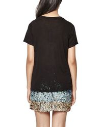 French Connection - Black Good Bad Sequin T-shirt - Lyst