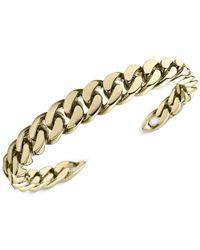 Michael Kors | Metallic Gold-Tone Curb Chain Cuff Bracelet | Lyst
