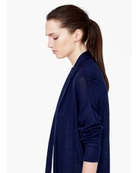 Mango | Blue Waterfall Cardigan | Lyst