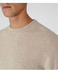 Reiss | Natural Hampton Cashmere Crew-neck Jumper for Men | Lyst