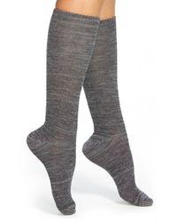 Kensie - Black Space Dye Knee High Socks - Lyst
