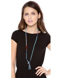 Chan Luu | Blue Beaded Turquoise Necklace | Lyst