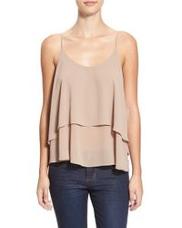 Soprano - Natural Double Layer Camisole - Lyst