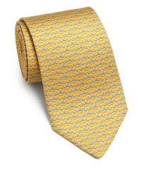 Ferragamo   Metallic Dragonfly Silk Tie for Men   Lyst