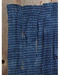 Free People - Blue Vintage Embroidered Indigo Scarf - Lyst