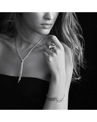 David Yurman | Blue Color Cocktail Ring With Diamonds | Lyst