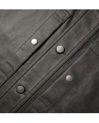 Onassis Clothing | Gray Coated Shirt Jacket for Men | Lyst
