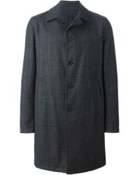 Lardini - Gray Reversible Coat for Men - Lyst